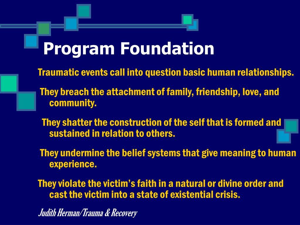 Program Foundation
