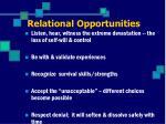 relational opportunities