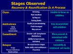 stages observed recovery reunification is a process