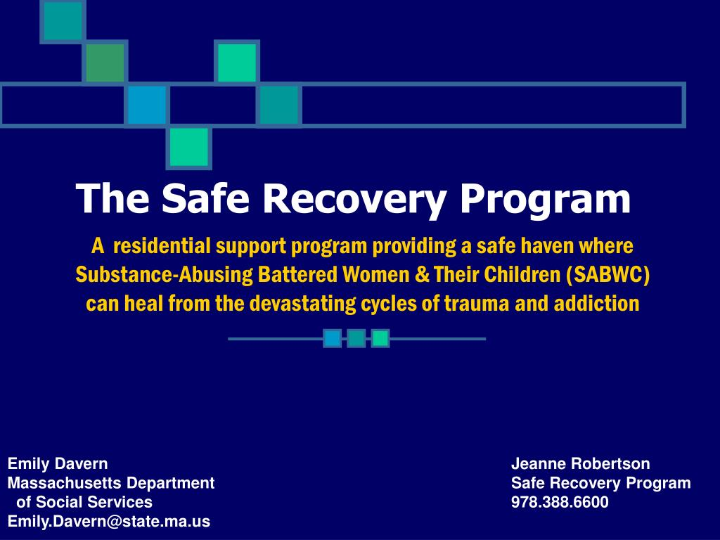 the safe recovery program l.
