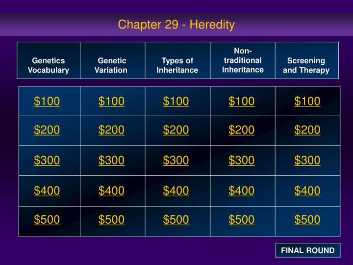 chapter 29 heredity n.