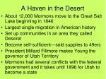 a haven in the desert
