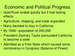 economic and political progress