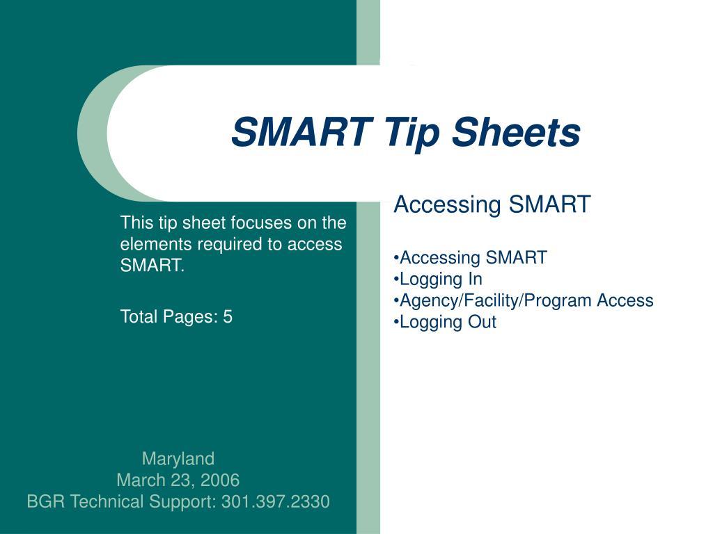smart tip sheets l.