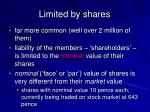 limited by shares