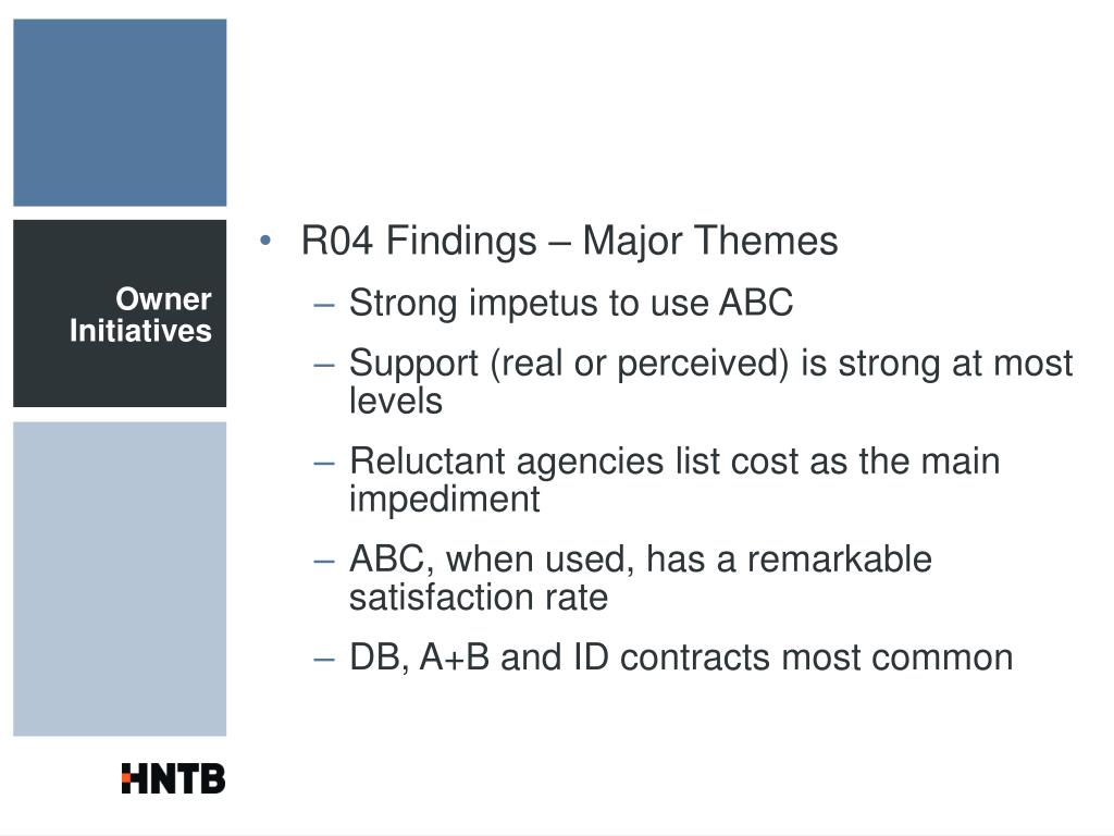 R04 Findings – Major Themes