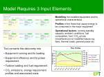 model requires 3 input elements