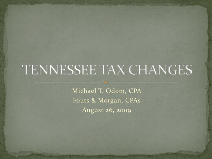 tennessee tax changes n.