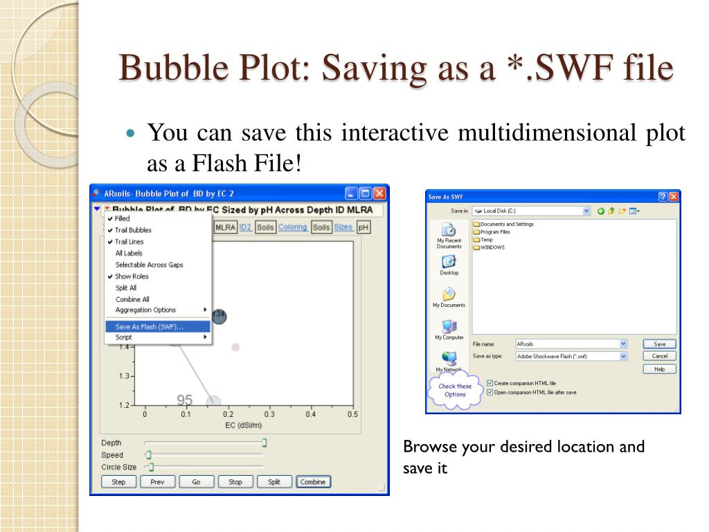 Bubble Plot: Saving as a *.SWF file