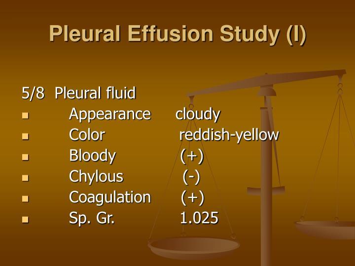 Pleural Effusion Study (I)