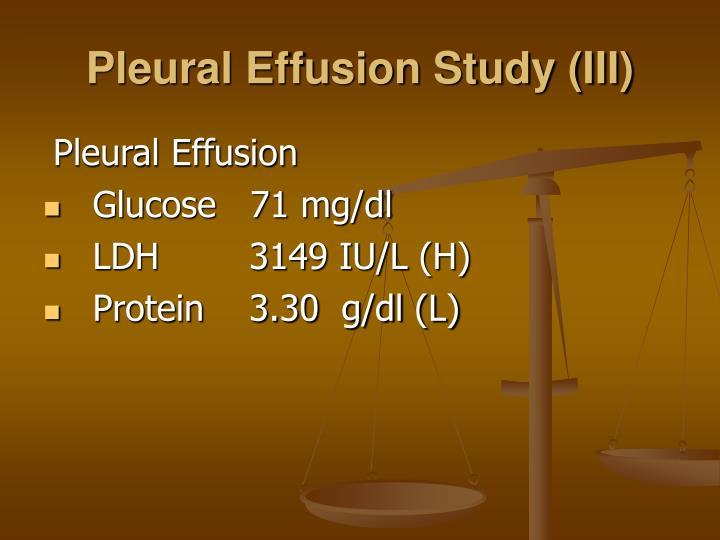 Pleural Effusion Study (III)