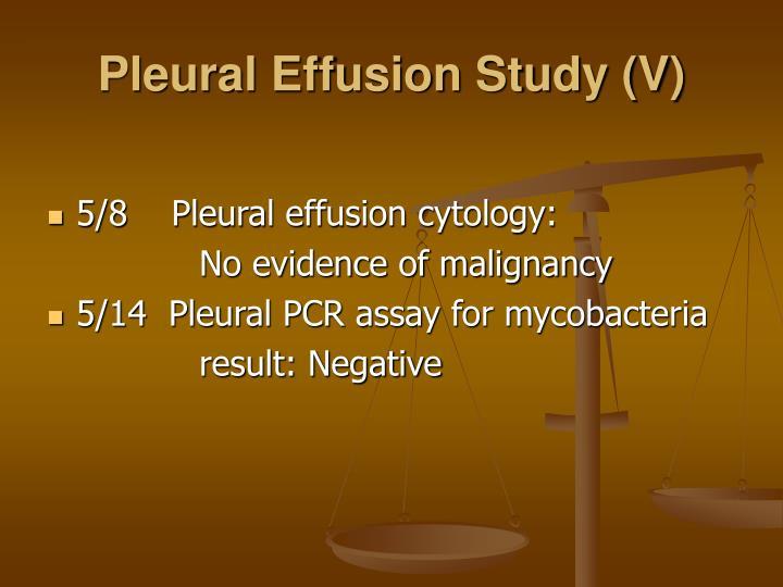 Pleural Effusion Study (V)