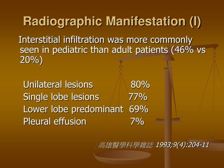 Radiographic Manifestation (I)