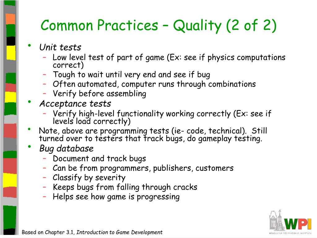 Common Practices – Quality (2 of 2)