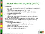 common practices quality 2 of 2
