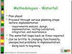 methodologies waterfall