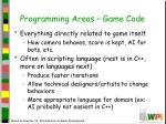 programming areas game code