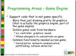 programming areas game engine