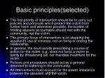 basic principles selected