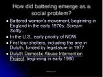 how did battering emerge as a social problem