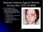 national violence against women survey nij cdc n 8000
