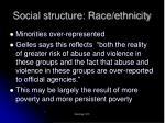 social structure race ethnicity