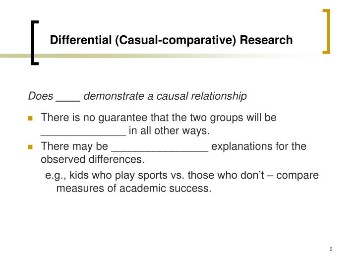 Differential casual comparative research3