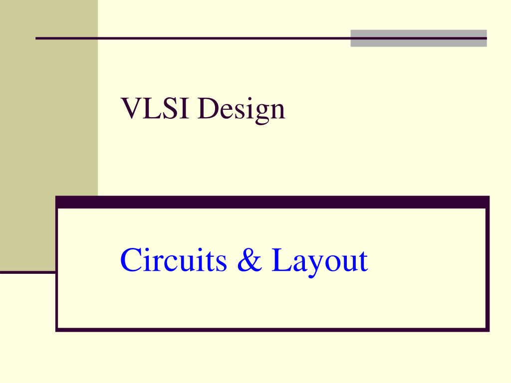 vlsi design circuits layout l.