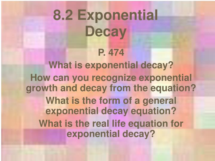 8 2 exponential decay n.