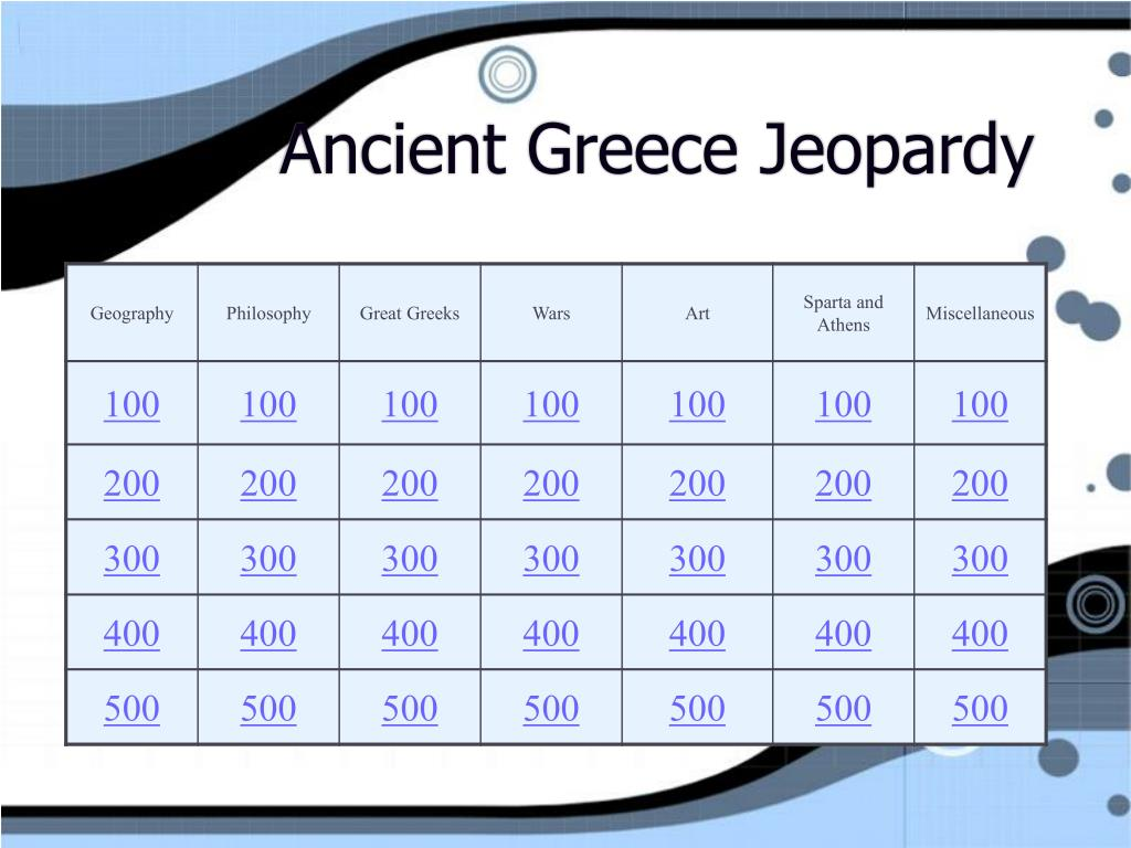 ancient greece jeopardy l.