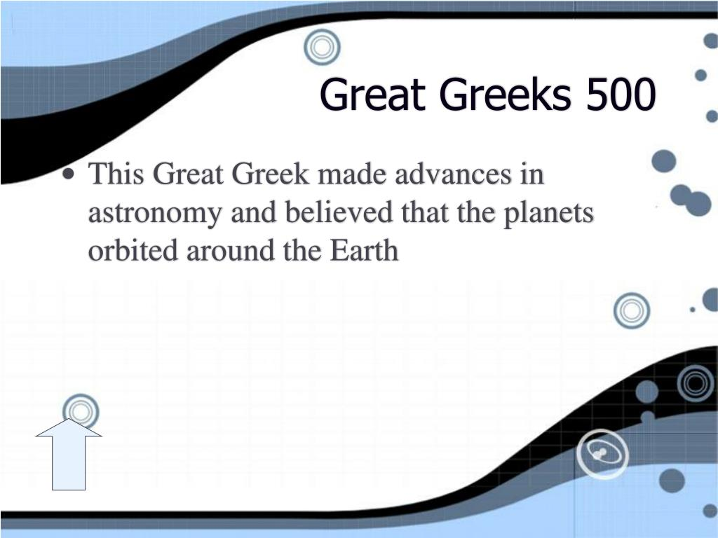 Great Greeks 500
