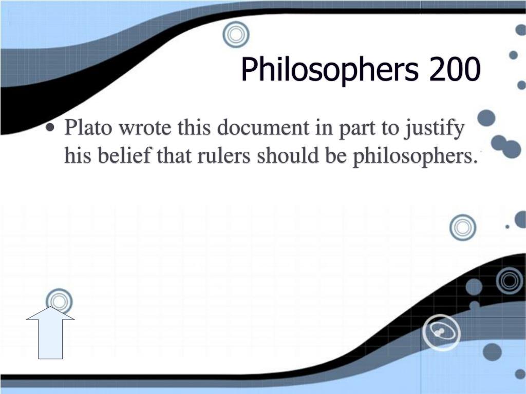 Philosophers 200