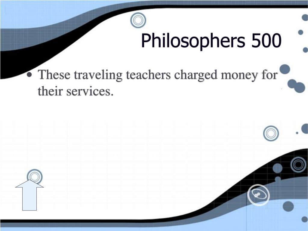 Philosophers 500