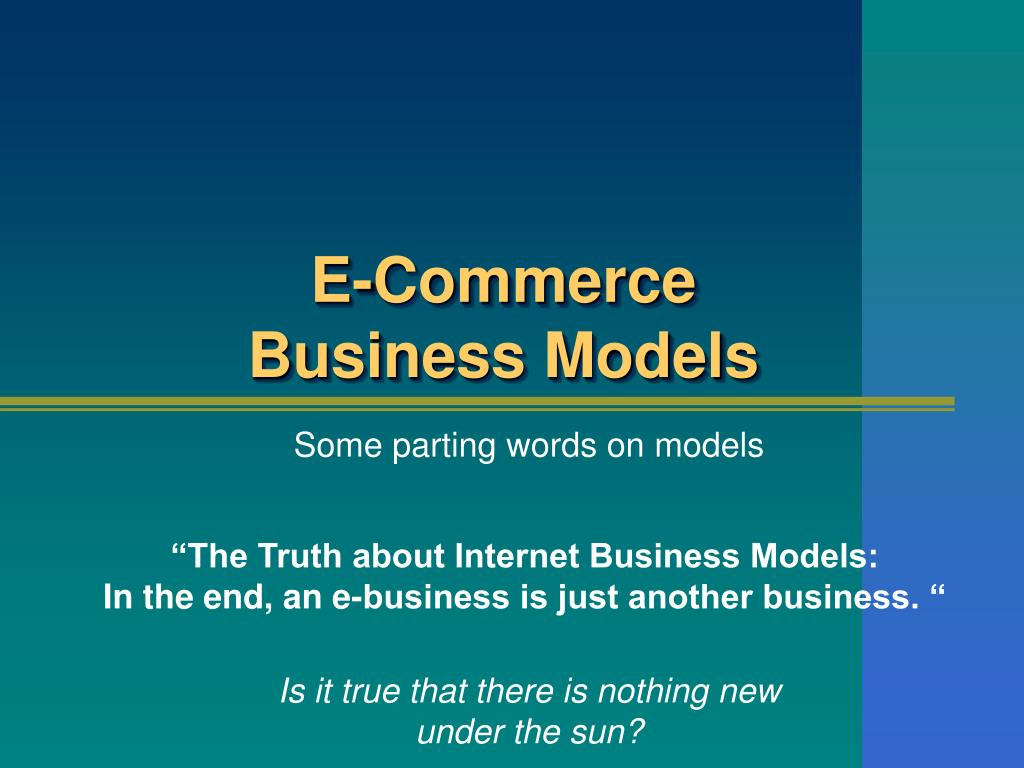 e commerce business models l.