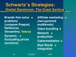 schwartz s strategies digital darwinism the great sorting