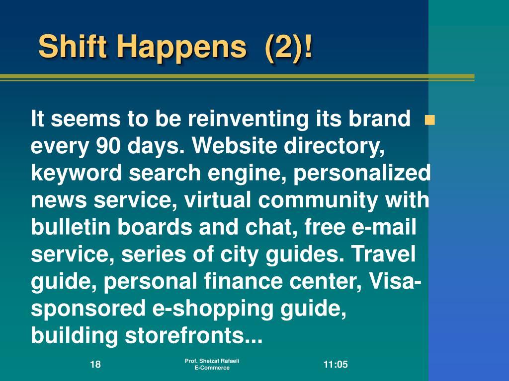Shift Happens  (2)!