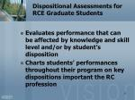 dispositional assessments for rce graduate students