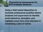 dispositional assessments for rce graduate students2
