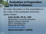 evaluation is preparation for the profession3