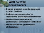 wou portfolio requirements