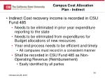 campus cost allocation plan indirect