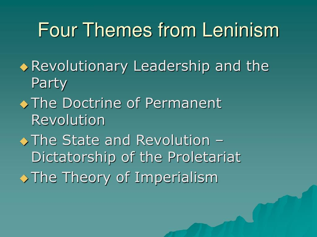 Four Themes from Leninism
