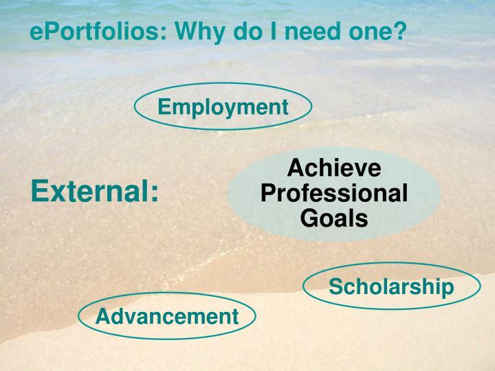 Achieve Professional Goals
