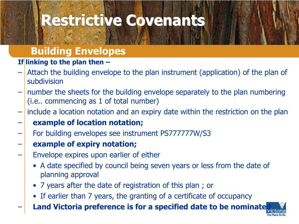 Restrictive Covenants