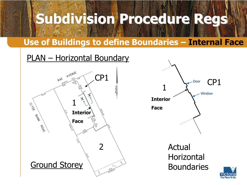 PLAN – Horizontal Boundary