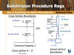 subdivision procedure regs7