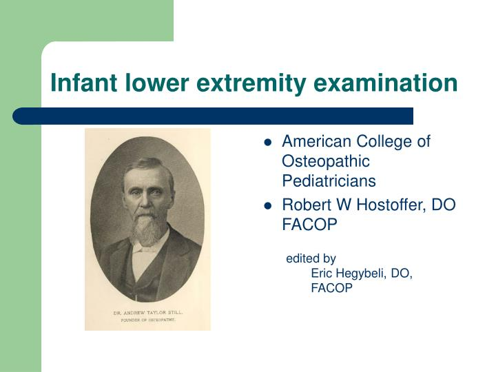 infant lower extremity examination n.