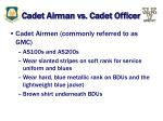 cadet airman vs cadet officer