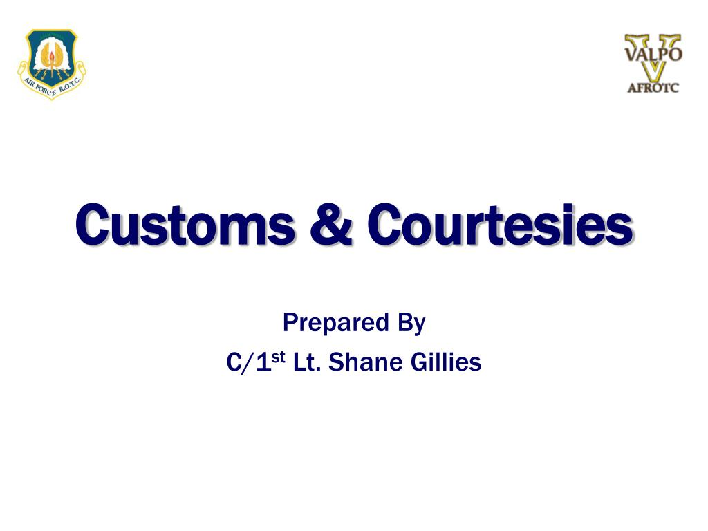 customs courtesies l.