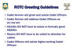 rotc greeting guidelines